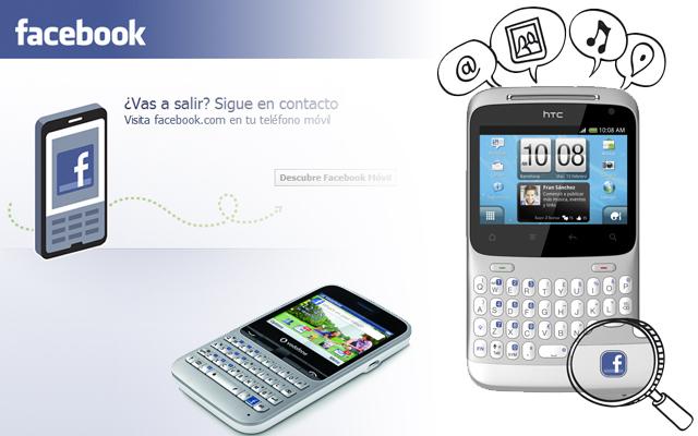 Moviles con acceso directo a Facebook