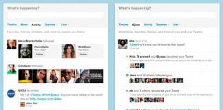Twitter nuevas funciones actividad