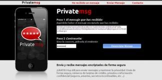 La app PrivateMSG permite codificar mensajes.
