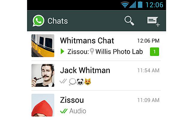 Whatsapp menú