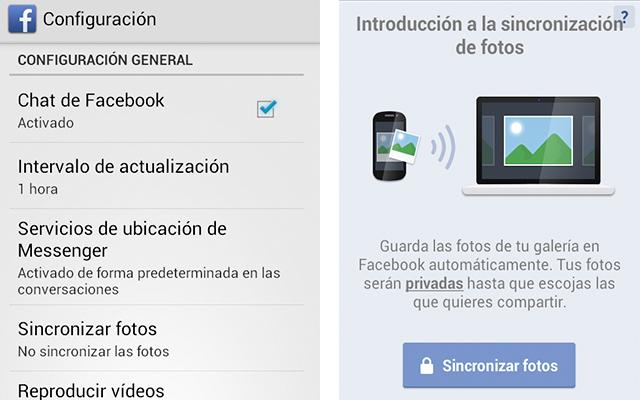 Facebook te permite sincronizar fotos automáticamente