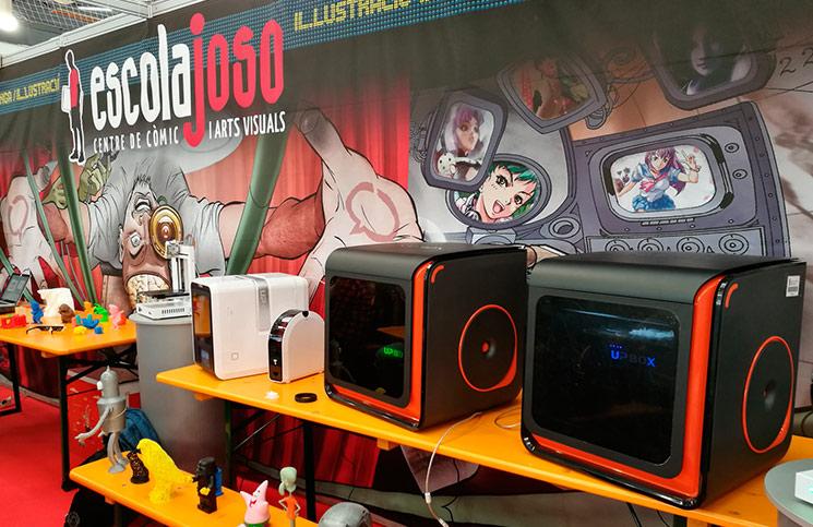 Salon Comic 2017 Impresoras 3D de EntresD