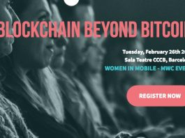 Woman in Mobile Blockchain